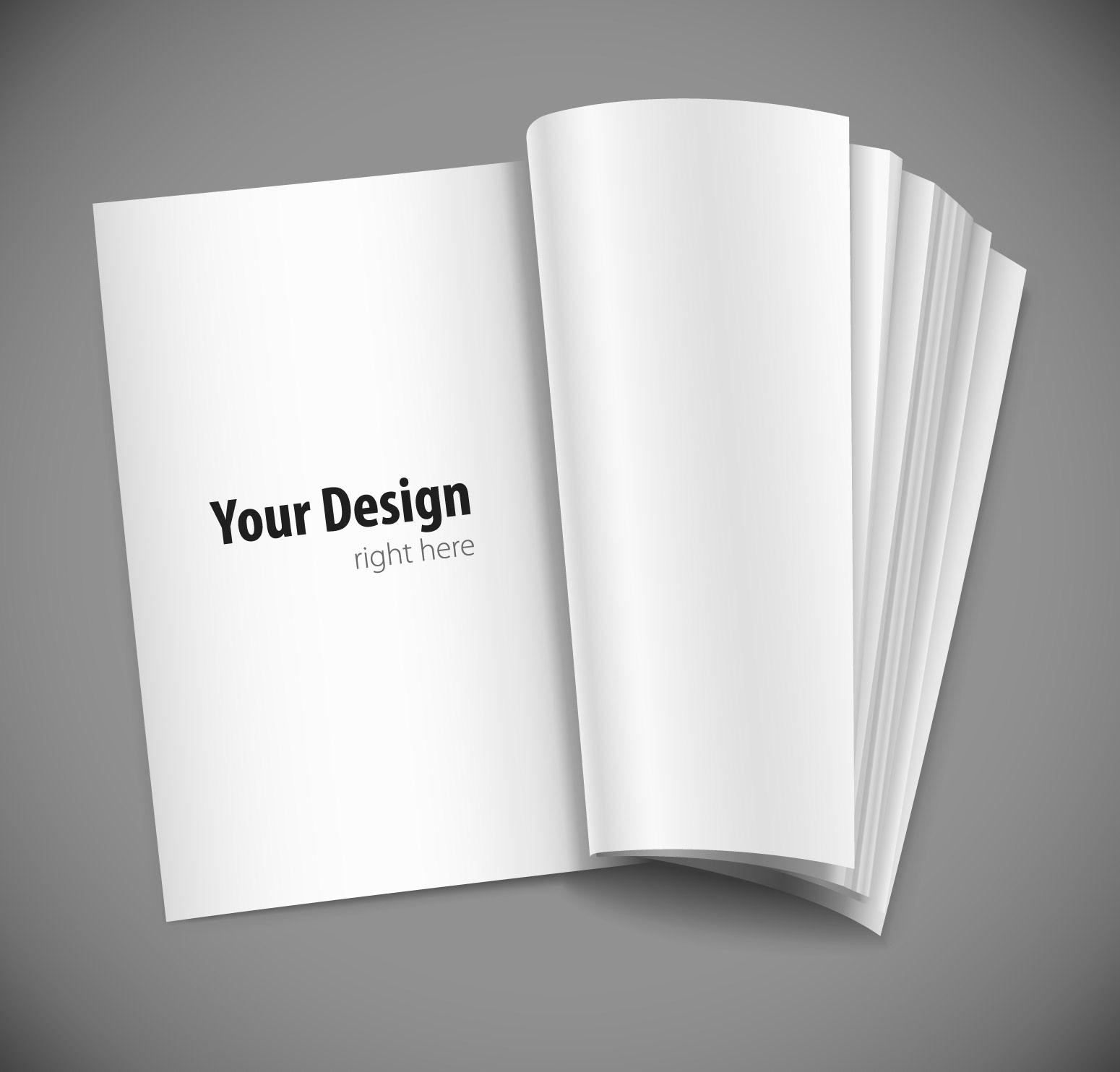 Blank Open Book Magazine Layout - Vector download