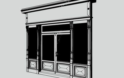 Portal con dos ventanas de show