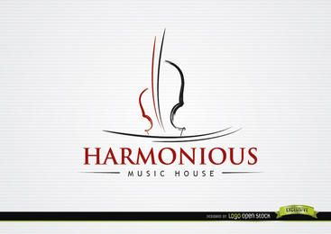 Logo Liner Violino Musical