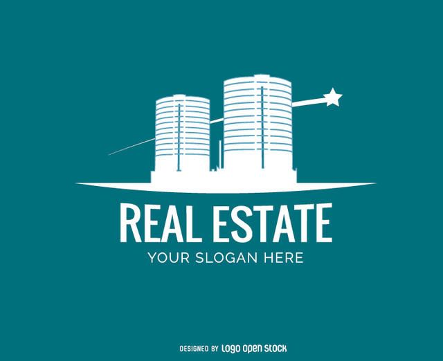 Modern Buildings Real Estate Logo