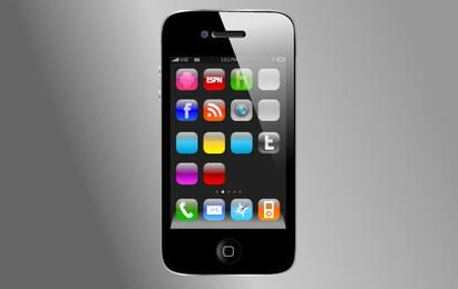 iPhone4 Vector without App Vectors