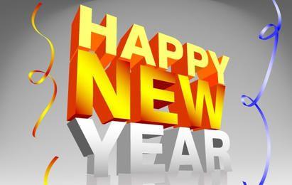 Frohes neues Jahr Konfetti-Schriftzug