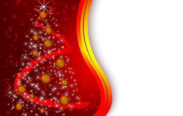 Arbol De Navidad Rojo De Fondo Descargar Vector