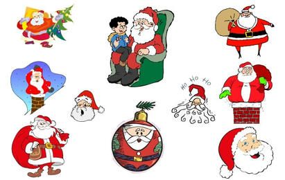 Simple Santa Vector Collection