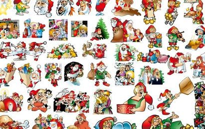 46 lovely Christmas vector illustration background material