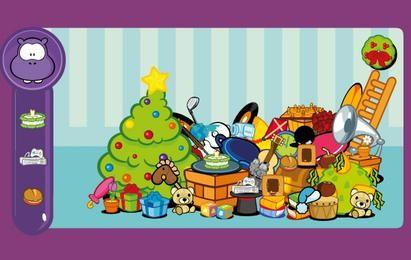 11 tema de Navidad encantador material de vectores de personaje de dibujos animados Cowco