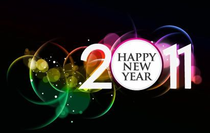 2011 HAPPY NEW YEAR POSTER FREE VECTOR
