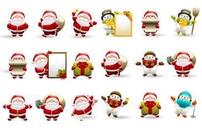 Navidad de Santa Icon Set