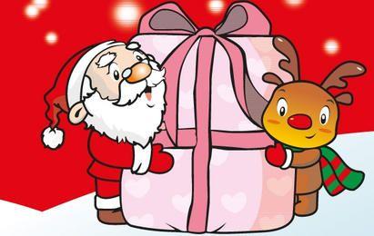 Tarjeta de Navidad Vector Gratis