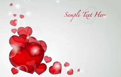 Valentine's Day Heart Card Vector