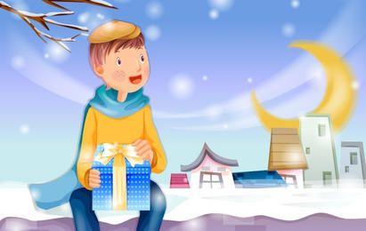 Gift Giving Christmas Card