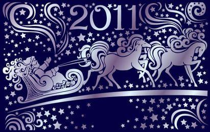 Ano novo 2011 vector
