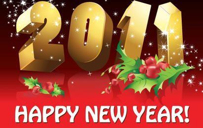 2011 feliz ano novo vetor