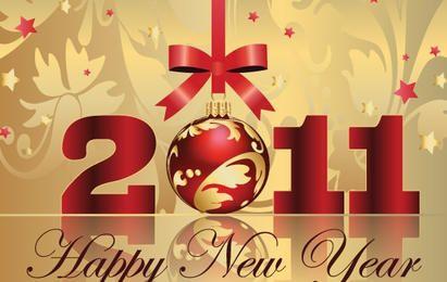 Feliz año nuevo vectores