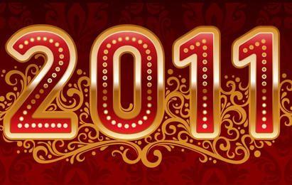 Año Nuevo 2011 Vector