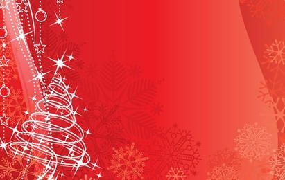 Red vector background Christmas & New-Year