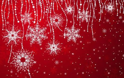 Elegant Snowflakes Background