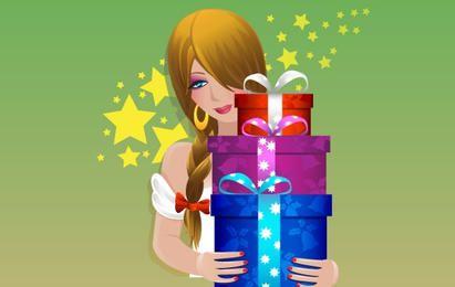 Material de vectores de regalo