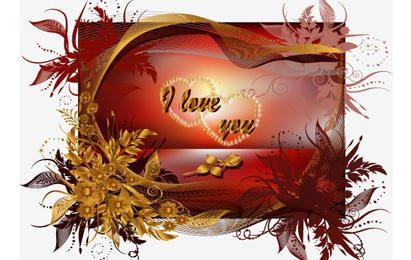Valentine's Day Greeting Cards Vector