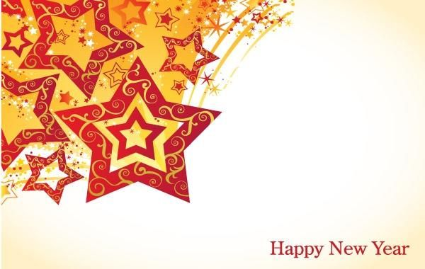 lunar new year theme vector turntable star material