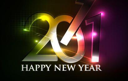 Feliz Ano Novo 2011 Cartas Metálicas