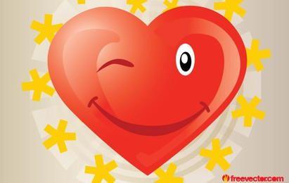 Vector de dibujos animados de corazón