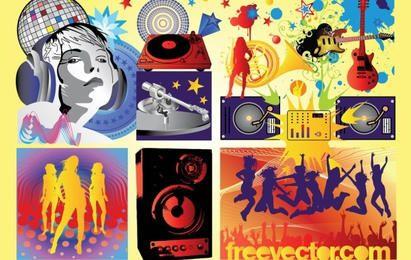 Kostenlose Musik Party Vektoren