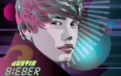 Vetor de Justin Bieber World