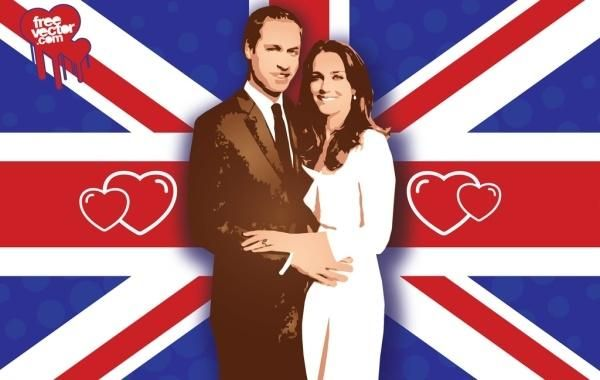 William Kate boda Vector