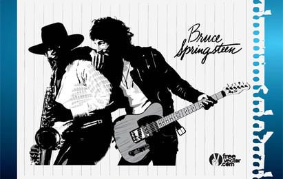 Bruce Springsteen Vector