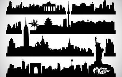 Vector de paisajes urbanos