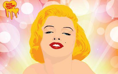 Marilyn Monroe-Vektor