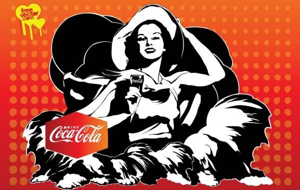 Vector Coca-Cola Girl