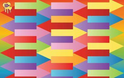 Flechas coloridas vector