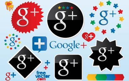 Logotipos de Vetores do Google Plus