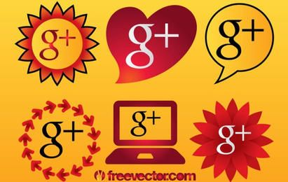 Iconos de Google Plus