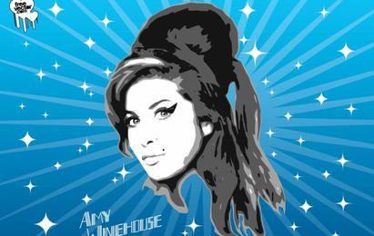 Amy Winehouse de gráficos vectoriales