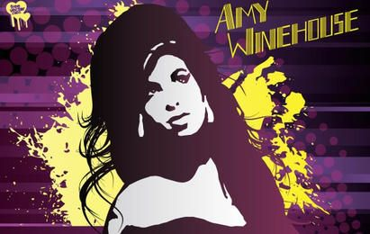 Amy Winehouse arte vectorial