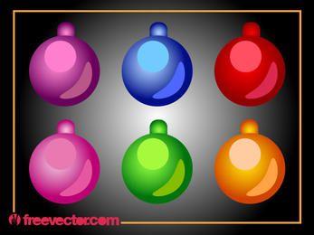 Pacote de Bola Brilhante Ornamental de Natal