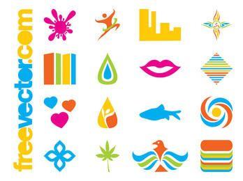 Colorido paquete de iconos corporativos