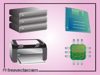 Computertechnologie-Gerätepaket