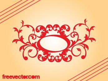 Retro Decorative Floral Scroll