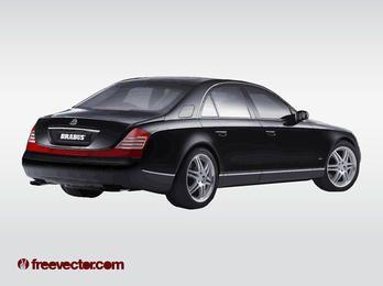 Luxury Car Maybach Limo Black