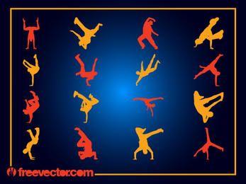 Pack de bailarinas Break para niños silueta