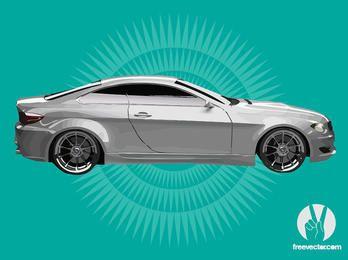 Glossy Silver BMW Sports Car