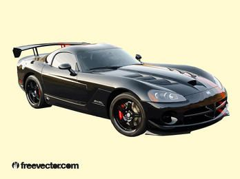 Black Dodge Viper Sports Car