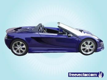 Blue Convertible Luxury Racing Car