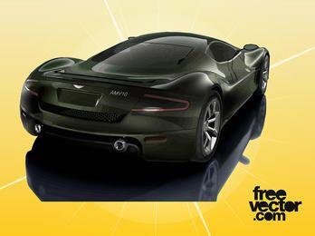 Coche Aston Martin AMV10 Negro