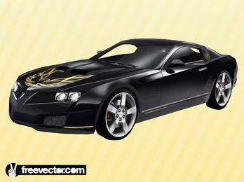 Capucha esculpida Pontiac negro Trans AM