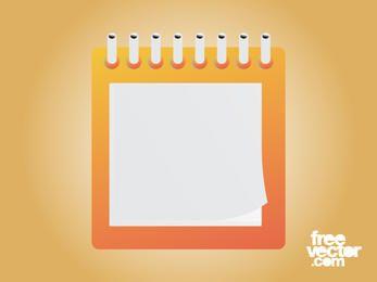Bloc de notas de diseño cuadrado en blanco